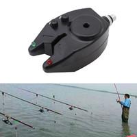 Wholesale Led Fish Indicator - Wholesale- New Electronic High Sensitive LED Light Fish Bite Sound Fishing Alarm Indicator Bell