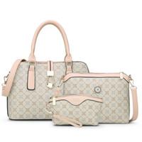 Wholesale Phone Set New - 3 Bag Set New Mother Handbag Brand Designer Women Bag Letter Striped Fashion Femal Bags Shoulder Bags Gift For Mother