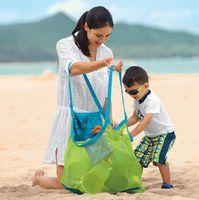 Wholesale Seashell Bags - Children Mesh Shell Bag Beach Seashell Tote Bag Storage Bags Shell Net Sand Away Beach Mesh Pouch KKA1799