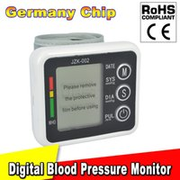 Wholesale Tonometer Blood - Health Care Germany Chip Automatic Wrist Blood Pressure Monitor Tonometer Meter Measuring Cuff digital Sphygmomanometer