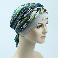 Wholesale Turban Headband Scarf - Good price hot sell popular Wife's love gift fun sleep cap headband warm hair loss turban cover head and ear