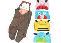 Wholesale Autumn Little Monkey - Newborn Swaddle Wrap Blanket Baby Stroller Cartoon Cotton Packaged Type Blanket for 0~2 Years Baby Little Dog Monkey Ladybird Owl