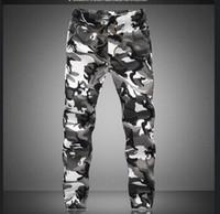 homens calças casuais militares venda por atacado-2017 M-5X Mens Basculador Outono Lápis Harem Pants Calças Dos Homens Camuflagem Calças Soltas Confortáveis Calças De Carga Camo Corredores