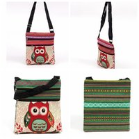 Wholesale Owl Crossbody Bags - New Fashion cute kids Embroidered Owl Messenger Bag girls Mini Shoulder Bag women Female Vintage Cute Phone Crossbody Post Bag
