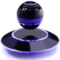 Wholesale Led Fancy Lights - Fancy Christmas Gift Smart Wireless Speaker Bluetooth Magnetic Levitating Speakers with Touch Buttons and Led Light
