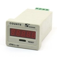 Wholesale Panel Counter - Wholesale- JDM11-5H 24VDC AC220V Input 5 Digits LED Panel Accumulating Counter Counting Tool