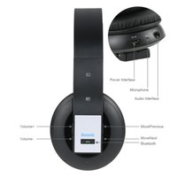 Wholesale Top Wireless Headsets For Pc - 2016 Black Top Fashion Foldable Bluetooth Wireless Gaming Super Bass Music Headset Headphone Over-ear Usb 3.5mm Wired for Laptop Pc Computer