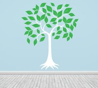 Wholesale blue tree wall decals - DIY Large Tree Vinyl Wall Stickers For Kids Room Girl Boys Nursery Wall Decals White Green Wall Art Tree Baby Decals Mural D809