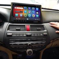 carro android dvd honda venda por atacado-GPS de DVD do carro do núcleo do quadrilátero da tela de HD para 08 Honda Accord 2008 2009 2010 2011 2012 2013 2014