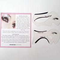Wholesale Perfect Eyeliner - 2pcs Perfect Cat Eye & Smokey Eye Makeup Eyeliner Models Template Top Bottom Eyeliner Card Auxiliary Tools Eyebrows Stencils ZA2024