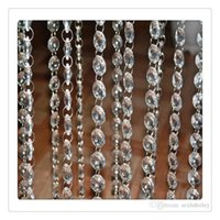 Wholesale Decorative Curtain Beads - Top Selling Crystal Curtain Clear Beads Chain Acrylic Crystal Garland Hanging Diamond Chandelier Wedding Supplies Party Decoration Free DHL