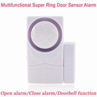 Wholesale Alarm Close - New Multi-functional Tiny Magnetic Door Sensor Alarm Home Window Security 110dB Alarm Doorbell Closing door Reminder