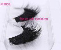 Wholesale horse hair extensions - custom package Horse Hair False Eyelashes 100% Handmade with High Quality Super Thick Long Eye Extension for Makeup