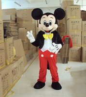 Wholesale Micky Mouse Party - 2015 High quality yellow bow micky mouse boy For Party Halloween Fancy Dress Animal mascot costume free shipping