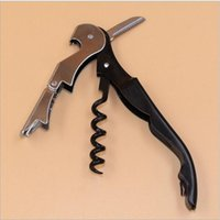 Wholesale Hinge Aluminum - Christmas gifts Waiter Wine Tool Bottle Opener Sea horse Corkscrew Knife Pulltap Double Hinged Corkscrew Kitchen Gadgets