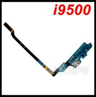 Wholesale Mic Assembly - For Samsung for GALAXY S4 i9505 i9500 USB Charger Flex Cable with Mic charging port dock connector flex ribbon Assembly