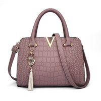 Wholesale Crocodile Fabric - All-match new tide crocodile Fashion Handbag Bag Handbag simple bag lady Shoulder Messenger Bag