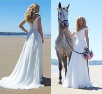 Wholesale Modest Wedding Dresses Prices - Beach Wedding Gown Off Shoulder Neck Simple Design Covered Botton Cheap Price Sweep Train Modest Design A Line Styel Fashionable