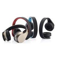 Wholesale Dj Foldable - High quality foldable Wireless DJ stereo audio Bluetooth Stereo Headset Handsfree Headphones Earphone Earbuds with Retail packaging