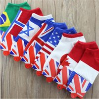 Wholesale Fun Socks Men - Wholesale- 1 Pair of 2016 New Socks Flag pattern women men ankle socks Unisex Cotton Blend Fun Socks