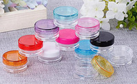 Wholesale Cream Wax - wax dab jar 5g clear plastic container with color lid for vape wax oil drip tip heating coil wire cosmetic cream packing