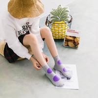 Wholesale Black White Dot Socks - 2017 autumn and winter new color polka dot women's socks cotton khaki white gray navy black sweet socks 50pairs stockings