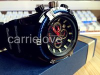 Wholesale Gel Led Watches - (Free Shipping) invicta Best Gift Men BLUE BLACK Watch Full Silica gel -Quartz Led Men Watch Sport Wrist Watch Relojes Hombre