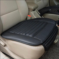 Wholesale Leather Car Seat Universal - Universal Car Seat Cover cushion four Seasons charcoal General Monolithic Summer Slip Mat Car Seat Mat Cushion Cover