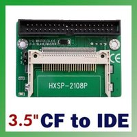 "Wholesale Cf Card Ide Adapter - CF to IDE Compact Flash Card Adapter Bootable 40pin CF to IDE 3.5"" HDD Hard Drive Converter Adaptor 3.5 inch Male Connector"