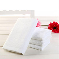 Wholesale Cars Baby Towel - 30*30cm White 100% Cotton Bath Towels Face Towel Hotel SPA Salon Car Towel High Quality DHL