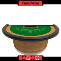 Wholesale Wholesale Custom Poker Chips - Wholesale Casino Custom Blackjack Table Manufacture Poker Table For 7 Player With Half Moon Shape (YM-BJ01)