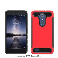 Wholesale Carbon Fibre Plastic - For ZTE N9560 MAX XL zmax pro Z981 TPU+PC 2 In 1 Carbon Fibre wire drawing Anti-Fall back cover case