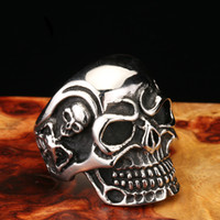 Wholesale Alternative Ring - High-end jewelry wholesale Titanium steel Men's skull ring Europe and the United States alternative exaggerated style bracelet