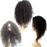 8A Virginie Malaisie Cheveux Glueless Pleine Dentelle Perruque Cheveux Humains Kinky Curl Virgin Hair Lace Front Perruques Kinky Curly For Black Women
