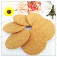Wholesale Coaster Cork - 2017 HOT Round shape Plain Cork Coasters Drink Wine Mats Cork Mats Drink Wine Mat 10cm*0.5cm ideas for wedding and party gift MYY