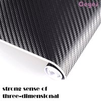 20cm Car Stickers 3D Car Carbon Fiber Vinyl Film Wrap Roll Auto Auto DIY Decor Sticker Acessórios de papel