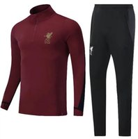 Wholesale Henderson Suits - TOP QUALITY 17 18 MILNER GERRARD COUTINHO FIRMINO HENDERSON STURRIDGE tracksuit soccer set shirt 2017 2018 red black 17 18 training suit