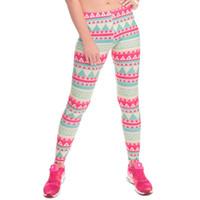 medias de mujer linda al por mayor-Pantalones 3D para mujeres sexuales Impresión completa digital Chica linda Pantalones elásticos ocasionales Elásticos ajustados Slim Fit Pantalones lápiz coloridos brillantes PWDK5-12 W