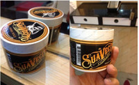 stil balmumu toptan satış-113ml Suavecito Pomade Hair Waxes Strong Style Restoring Pomade Hair Gel Style Tools Firme Hold Big Skeleton Slicked Back Hair Oil Wax Mud