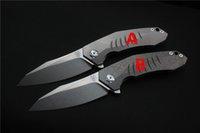 facas dobráveis frete grátis venda por atacado-Frete grátis, alta qualidade Viteli TOP1 faca, Blade100% S35VN (lavagem de pedra), Handle: TC4 Avião rolamento ao ar livre camping Folding faca EDC, presentes.