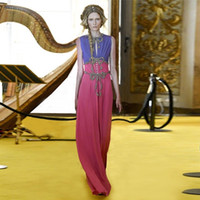 Wholesale Vintage Sequin Chiffon Maxi - High Quality Brand Designer Sequin Maxi Dress 2017 Early Autumn Vintage O Neck Sleeveless Bowknot Embroidered Long Party Robe Evening Gowns