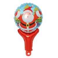 ballon de bâton d'aluminium achat en gros de-Joyeux Noël Bâton Ballons Père Noël Feuille Ballon Snowmantree Balons Anniversaire Fête De Noël Décor Christmas Globos