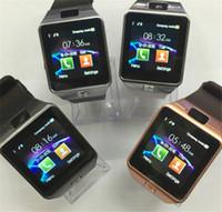 u8 smart watch iphone оптовых-DZ09 смарт часы GT08 U8 и Wrisbrand А1 Android для iPhone часы iWatch смарт SIM-интеллектуальное мобильный телефон часы может записать состояние сна смарт-часы iWatch