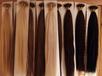 "Wholesale Double Drawn Extensions - ELIBESS Top Quality Nano Rings Hair Extensions double drawn 1g Strand 100g pack 16""-24"" 1B# NoTangle No Shedding Fast Shipping"