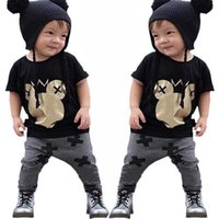 Wholesale outfit mouse - 2017 Boys Baby Childrens Clothing Sets Cotton Mouse Printed tshirts Pants 2Pcs Set Summer Toddler Pajamas Infant Clothes Outfits