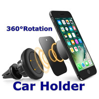 Wholesale Car Plate Holder - Smart Mobile Phone Car Holders Universal Magnetic Car Mount Holders Air Vent Round Silicone Plate Stand