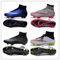2017 quente venda Mercurial Superfly V SX Neymar Soccer Shoes Magista Obra II FG Mens Soccer Cleats High Ankle Top Cheap Football Boots