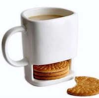office coffee cups. free shipping 250ml ceramic mug white coffee tea biscuits milk dessert cup side cookie pockets holder for home office cups k