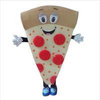 novo vestido de fantasia venda por atacado-Chegada nova 2017 Personagem de Banda Desenhada Adulto bonito da mascote da pizza Traje Fancy Dress Halloween party costume frete grátis