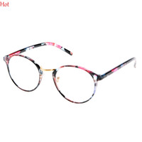 Wholesale Leopard Frame Glasses Optical - Hot Fashion Retro Framed Glasses Men Women Optical Glasses Round Lens Transparent Cute Women Dot Leopard Patchwork Legs Glasses SV013241